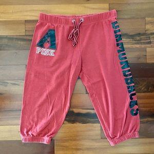 [PINK VS] Red Capri Sweatpants
